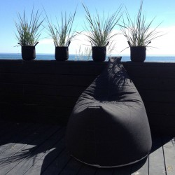 Pouf lounge satellite anthracite