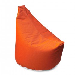 Pouf salon orange