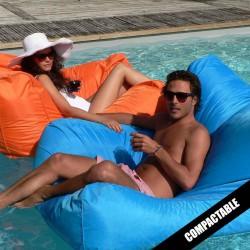 Pouf piscine turquoise SITINPOOL