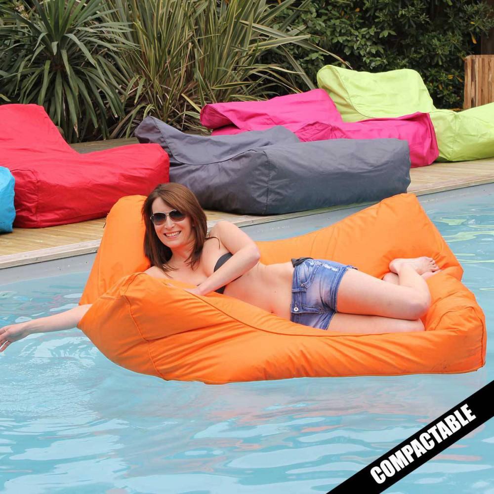 Pouf piscine orange SITINPOOL