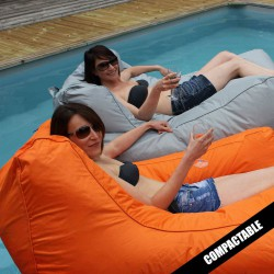 Pouf flottant orange Sitinpool