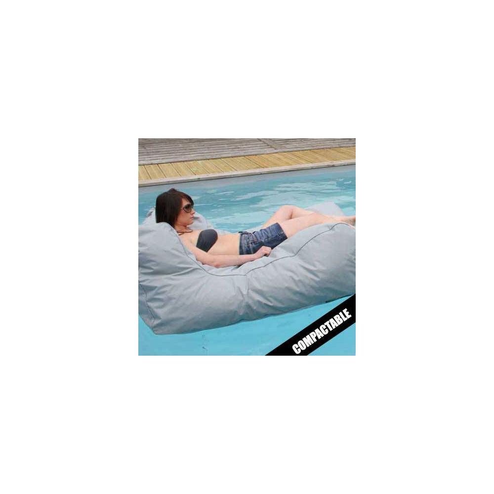 Pouf piscine gris clair SITINPOOL