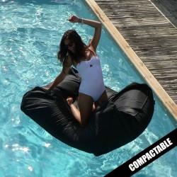 Pouf piscine noir SITINPOOL
