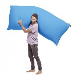 pouf bleu géant
