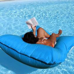 Grand pouf piscine bleu