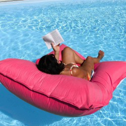 pouf piscine rose