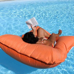 Pouf piscine orange