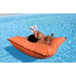 Pouf pour piscine orange