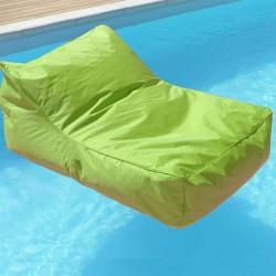 Pouf fauteuil piscine vert anis