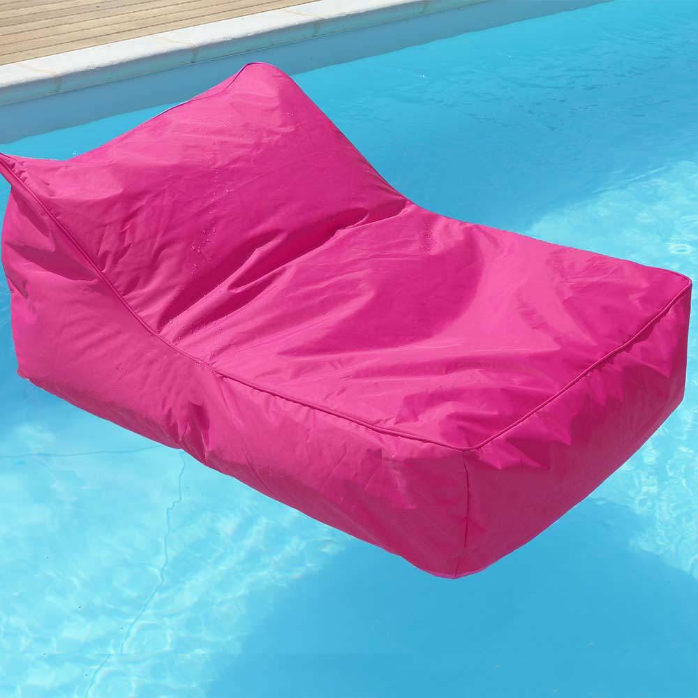 Pouf fauteuil piscine rose fuchsia