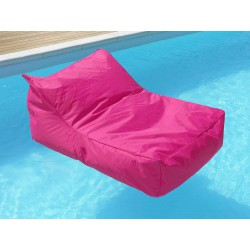 fauteuil piscine rose fuchsia