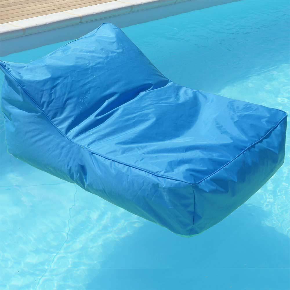 Pouf fauteuil piscine bleu turquoise