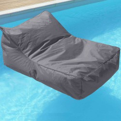 Pouf fauteuil piscine gris anthracite