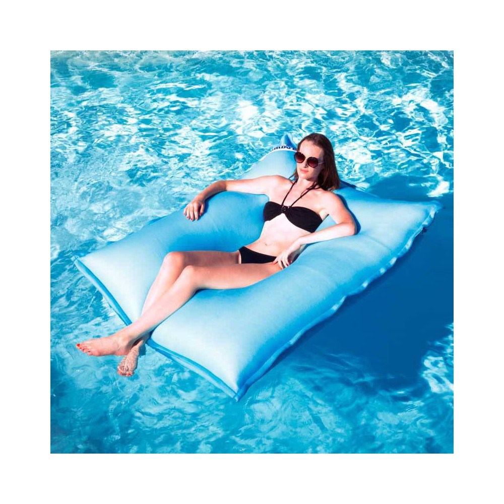 Pouf piscine turquoise