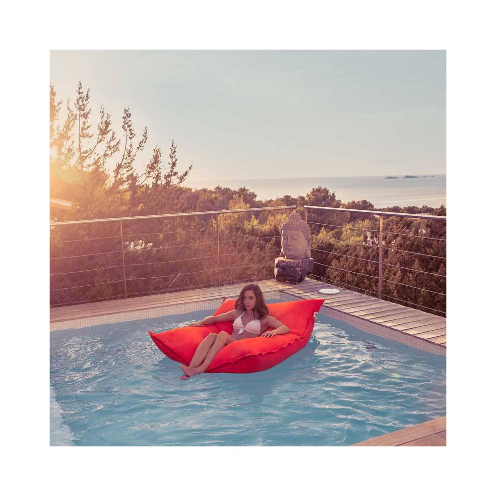 Pouf piscine rouge