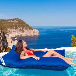 Pouf piscine bleu foncé