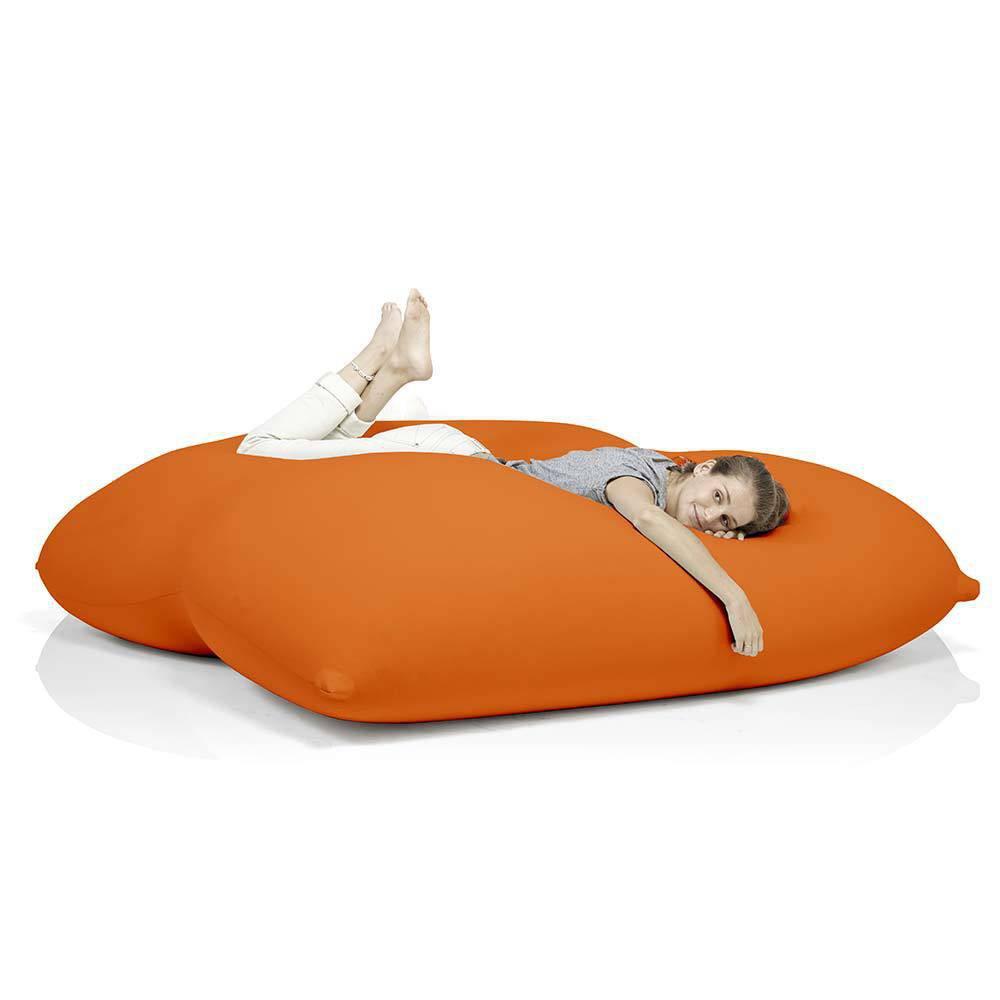 Pouf orange géant