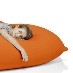 Pouf salon orange