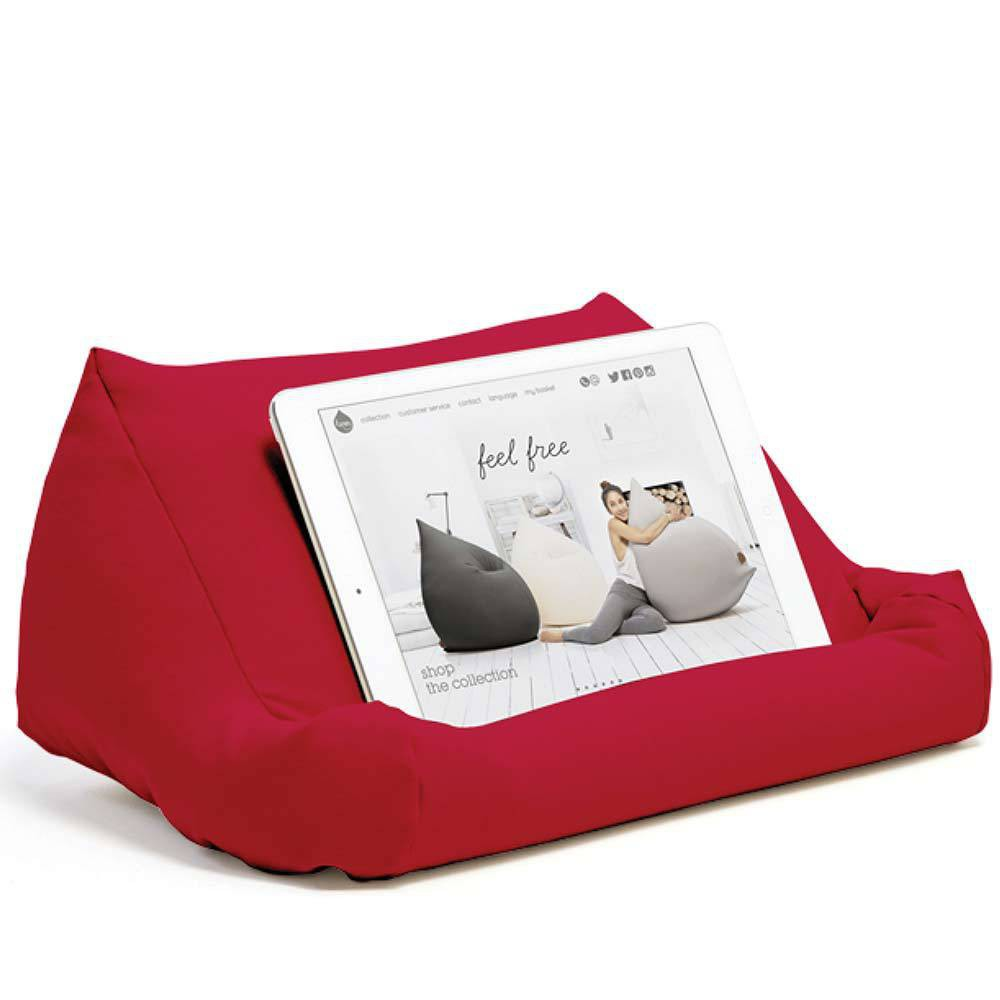 Support tablette coussin rouge