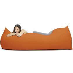 pouf orange ergonomique