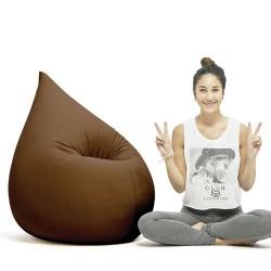Pouf ergonomique brun