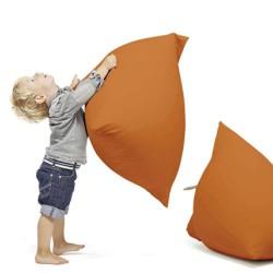 Pouf berlingot orange