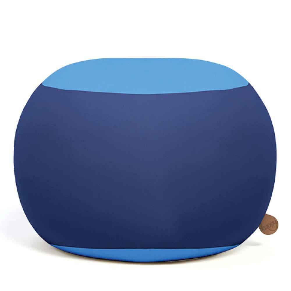 Pouf boule bleu