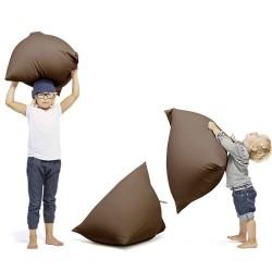Pouf marron enfant