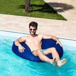 Pouf piscine bleu jean