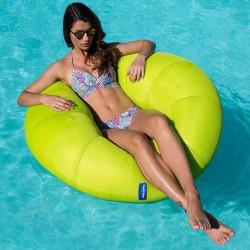 Pouf piscine donut vert
