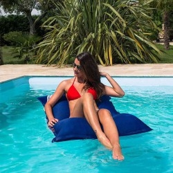 Pouf piscine bleu swimming