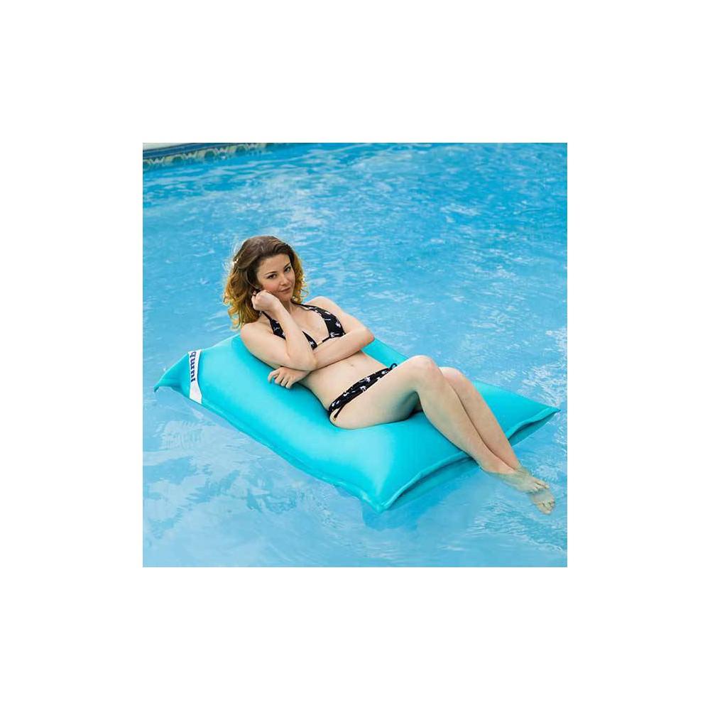 pouf piscine bleu enfant