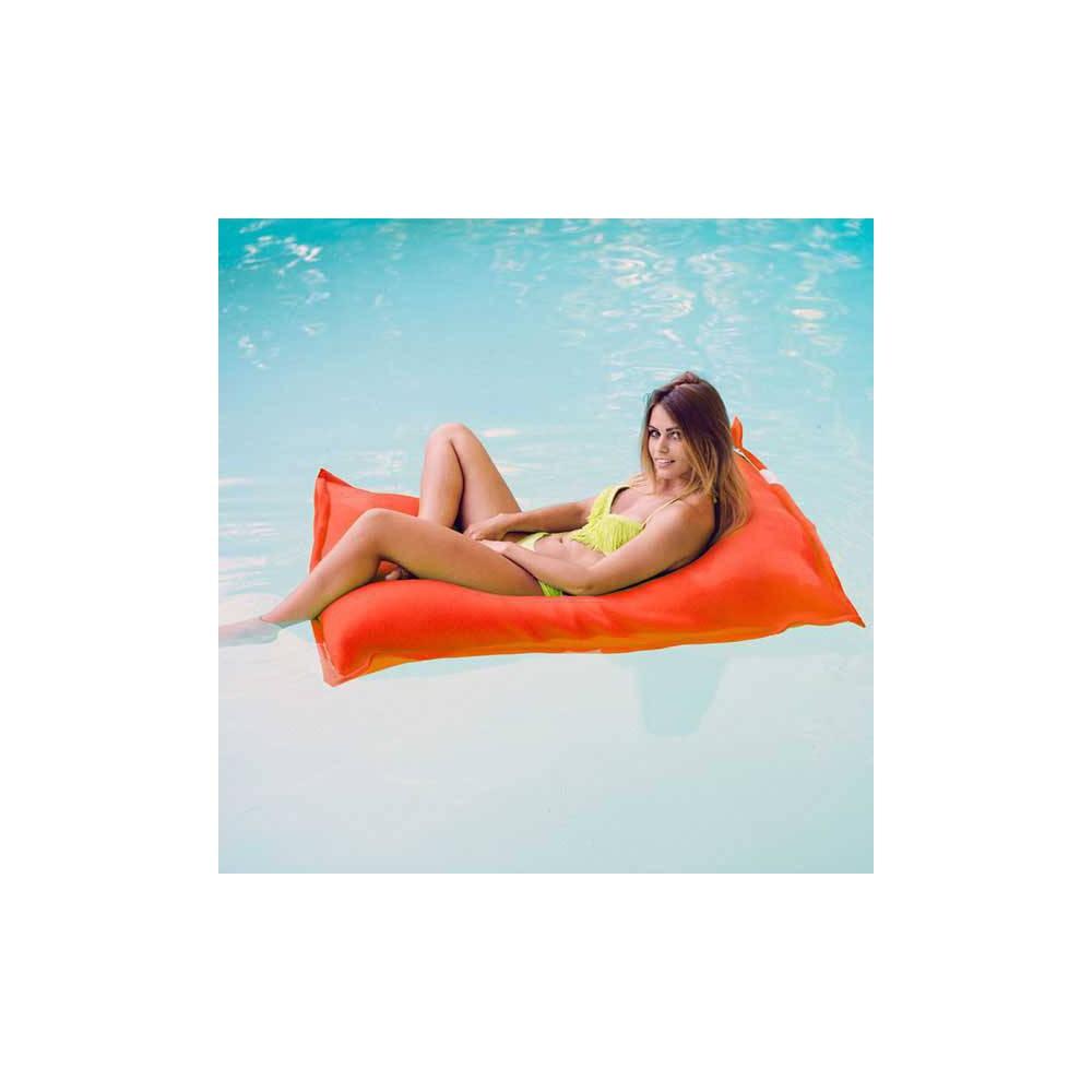 pouf piscine orange jumbo bag