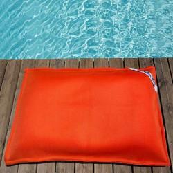 Petit pouf piscine orange