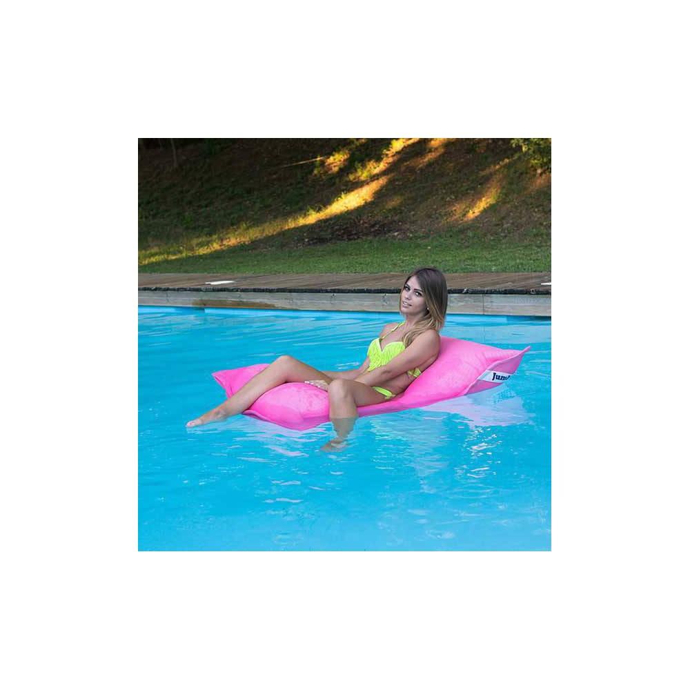 pouf piscine rose flottant