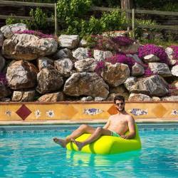 Fauteuil piscine vert