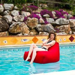 Fauteuil piscine rouge