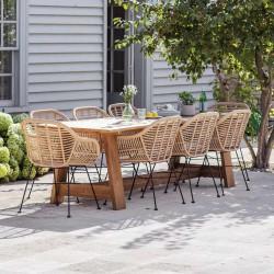 Grande table jardin teck
