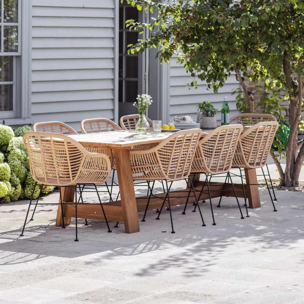Grande table de jardin en teck pour 10 personnes