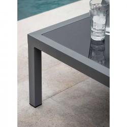 table basse de jardin en alu