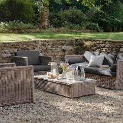 salon de jardin rotin luxe