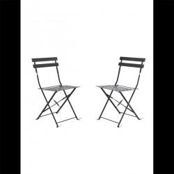 Lot de 2 chaises métal noirs