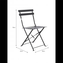 Lot de 2 chaises outdoor noirs