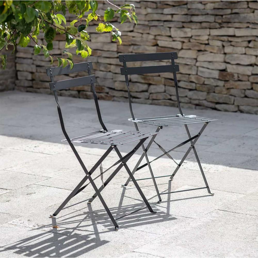 Lot de 2 chaises bistrots noirs
