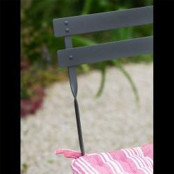 Table ronde de jardin et ses 4 chaises en métal gris