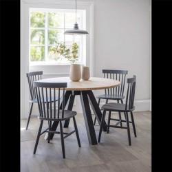 Lot de 2 chaises en bois gris