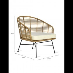 fauteuil de jardin bambou