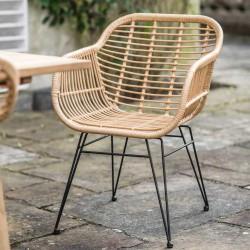 Petit fauteuil bambou et métal