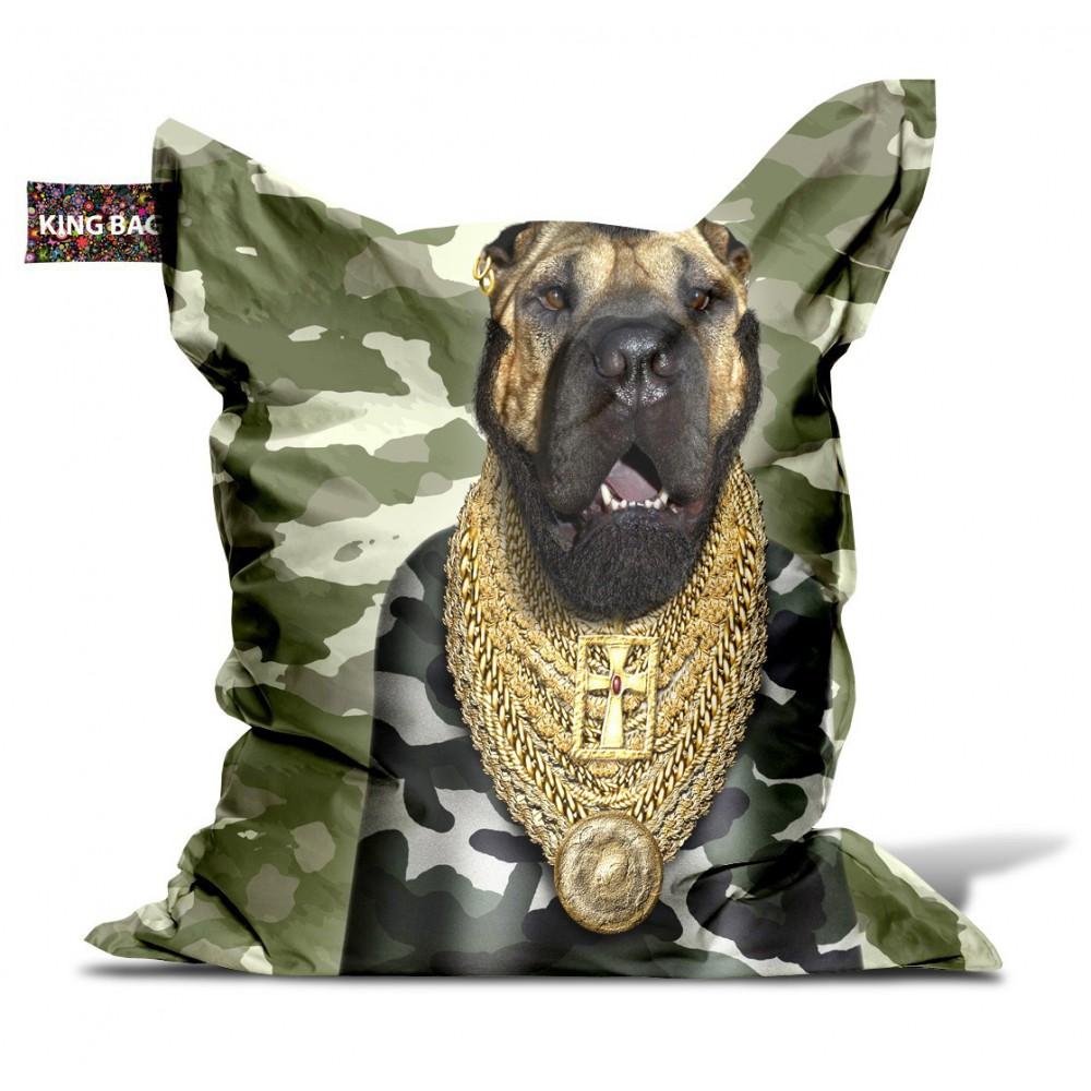 Pouf chien militaire