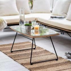 Table basse extérieur bambou